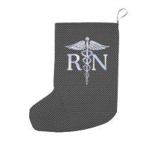 Registered Nurse RN Caduceus Snakes Carbon Small Christmas Stocking