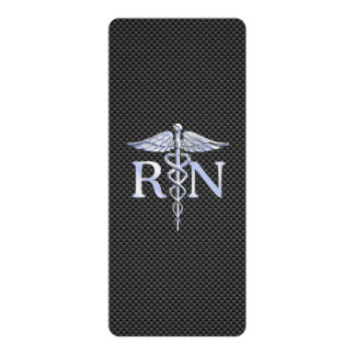 Registered Nurse RN Caduceus Snakes Card