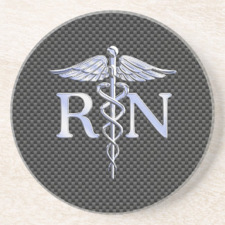 Registered Nurse RN Caduceus Snakes Coaster
