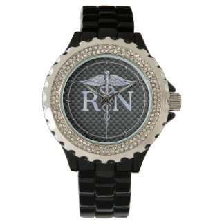 Registered Nurse RN Caduceus Snakes Decor Wrist Watches