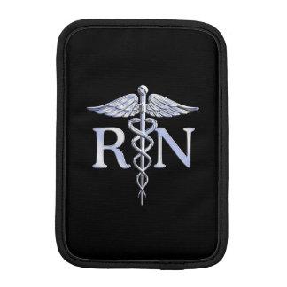 Registered Nurse RN Caduceus Snakes on Black Decor Sleeve For iPad Mini