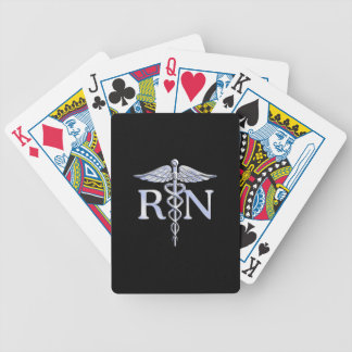 Registered Nurse RN Caduceus Snakes Bicycle Playing Cards