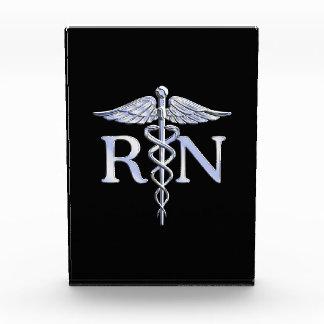 Registered Nurse RN Caduceus Snakes Style on Black Award