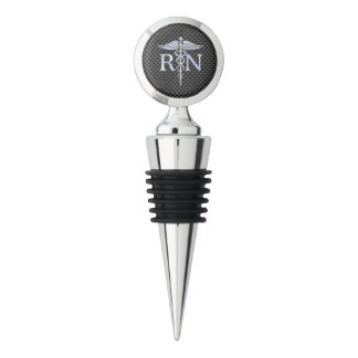 Registered Nurse RN Caduceus Snakes Wine Stopper