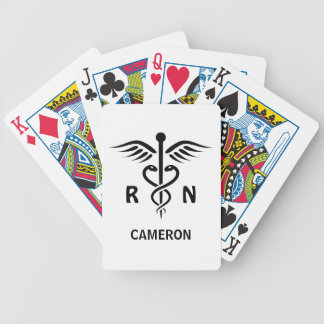 Registered nurse RN caduceus symbol personalized Bicycle Playing Cards
