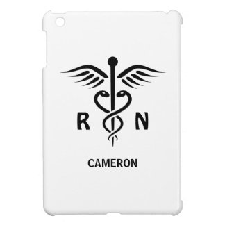 Registered nurse RN caduceus symbol personalized Case For The iPad Mini