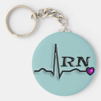 """Registered Nurse """"RN"""" Gifts QRS Design Basic Round Button Keychain"""