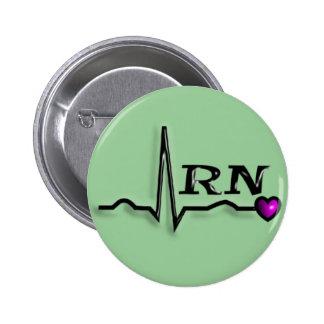 "Registered Nurse ""RN"" Gifts QRS Design Pin"