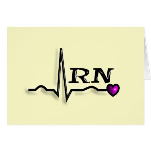 "Registered Nurse ""RN"" Gifts QRS Design Greeting Card"