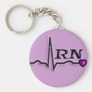 "Registered Nurse ""RN"" Gifts QRS Design Key Chains"