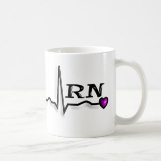 "Registered Nurse ""RN"" Gifts QRS Design Classic White Coffee Mug"