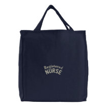 Registered Nurse RN Healthcare Professional Embroidered Tote Bag