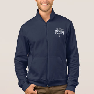 Registered nurse RN jacket with caduceus symbol