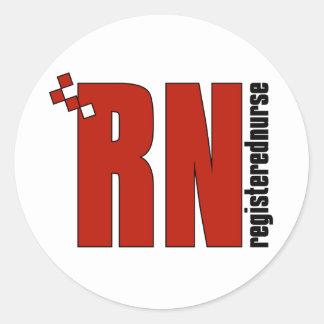 Registered Nurse RN Round Stickers