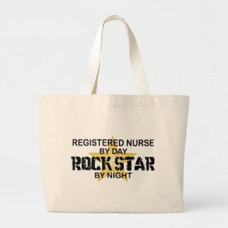 Registered Nurse Rock Star by Night Large Tote Bag