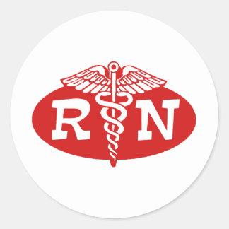 Registered Nurse Round Stickers