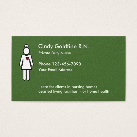 registered nurse simple businesscards business card zazzle com