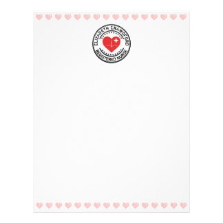 Registered Nurse Stamp Heart ECG With Your Name Letterhead