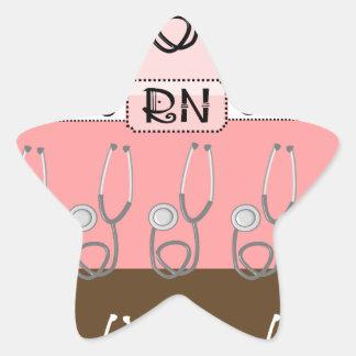 Registered Nurse Star Sticker
