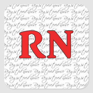 Registered nurse sticker