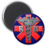 Registered Nurse Symbol 2 Inch Round Magnet