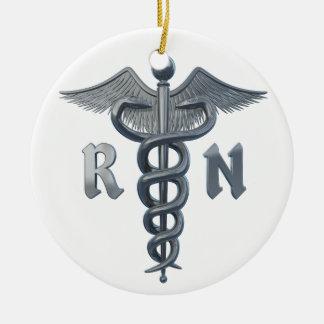 Registered Nurse Symbol Ceramic Ornament