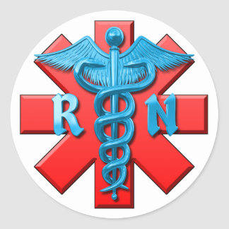 Registered Nurse Symbol Classic Round Sticker
