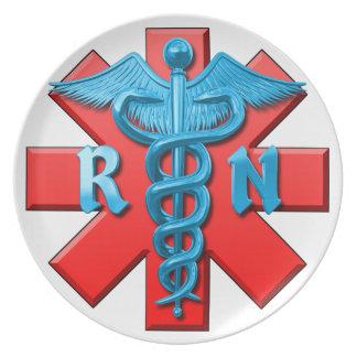 Registered Nurse Symbol Dinner Plate