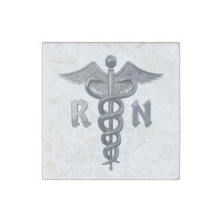 Registered Nurse Symbol Stone Magnet