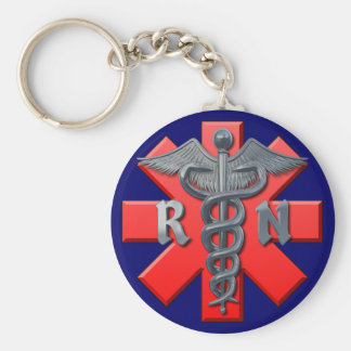 Registered Nurse Symbol Keychains