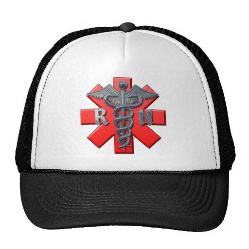 Registered Nurse Symbol Mesh Hat