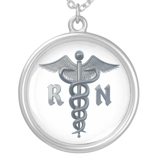 Registered Nurse Symbol Personalized Necklace