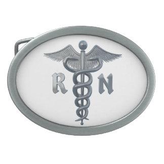 Registered Nurse Symbol Oval Belt Buckle