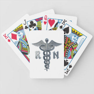 Registered Nurse Symbol Bicycle Playing Cards