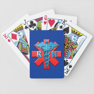 Registered Nurse Symbol Bicycle Poker Cards