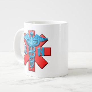 Registered Nurse Symbol 20 Oz Large Ceramic Coffee Mug