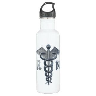 Registered Nurse Symbol Water Bottle
