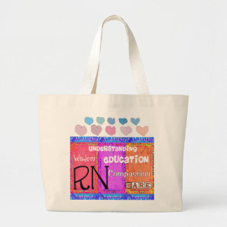 Registered Nurse Tote Bag Whimsical Design