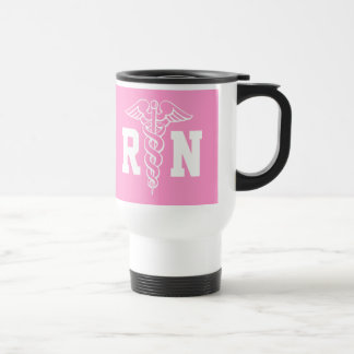Registered Nurse travel mug | RN with caduceus