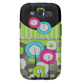 Registered Nurse Whimsical and Abstract Galaxy S3 Cover