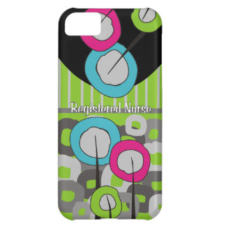 Registered Nurse Whimsical and Abstract Cover For iPhone 5C