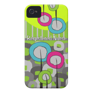 Registered Nurse Whimsical and Abstract iPhone 4 Case-Mate Case
