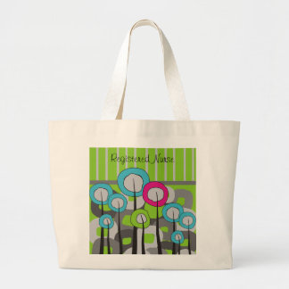 Registered Nurse Whimsical and Abstract Large Tote Bag