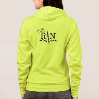 Registered Nurse Zip Hoodie QRS Segment
