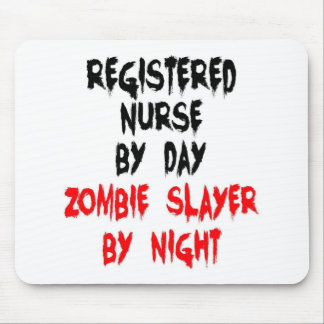 Registered Nurse Zombie Slayer Mouse Pad