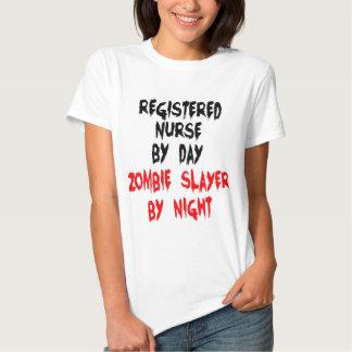 Registered Nurse Zombie Slayer T Shirt