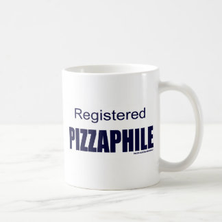 REGISTERED PIZZAPHILE CLASSIC WHITE COFFEE MUG