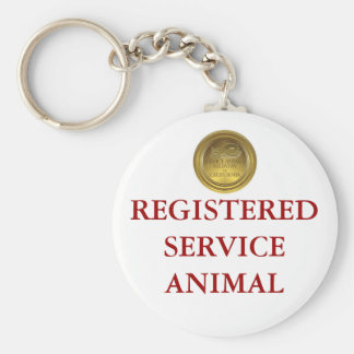 Registered Service Animal Tag Key Chain