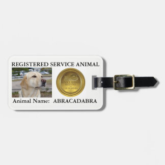 Registered Service Animal Tag (with PHOTO/NAME)