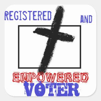Registered to Vote Christian Voter Drive Sticker